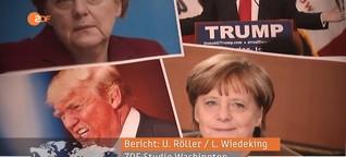 Trump moniert Merkels Flüchtlingspolitik - ZDF heute journal