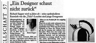 R. Sapper: Ein Designer schaut nicht zurück