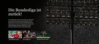 Die Bundesliga ist zurück! - Pageflow-Story für dw.com