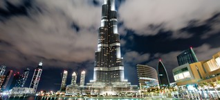 Ein besseres Bild der Erde: Fotoschule. Burj Khalifa in Dubai