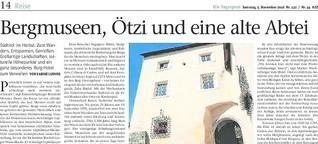 Bergmuseen, Ötzi und eine alte Abtei