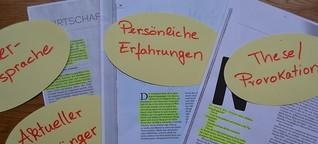 """Schreibwerkstatt """"Originelle Texteinstiege"""""""