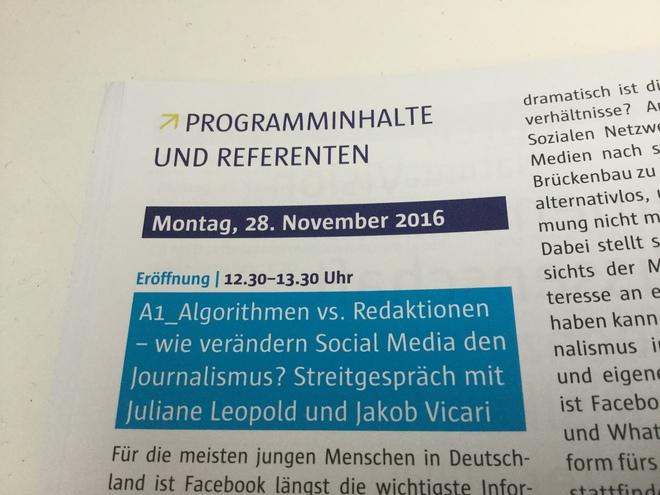 Algorithmen vs. Redaktionen - wie verändern Social Media den Journalismus?