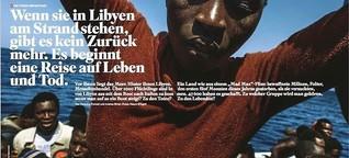 Wenn sie in Libyen am Strand stehen, gibt es kein Zurück mehr.