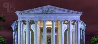 Jefferson Memorial bei Nacht in Washington, D.C.