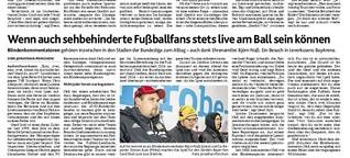 Blindenreporter in der Bundesliga