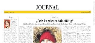 """""""Pelz ist wieder salonfähig"""""""