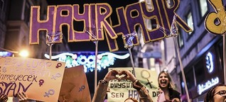Against patriarchy and the constitutional reform: Thousands of women in Turkey march for 'Hayır'
