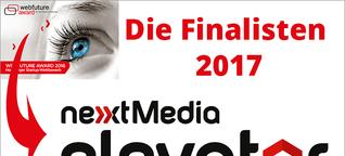 Startup-Award  - nextMedia Elevator: Die Finalisten 2017