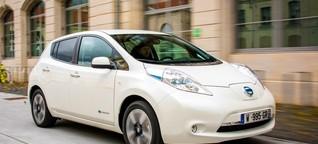 Mit dem Nissan Leaf auf Sparfahrt