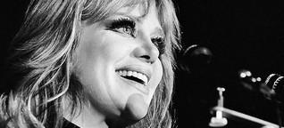 Die Chanson-Sängerin Hildegard Knef