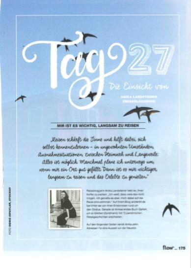 Flow Ferienbuch - 6-seitiger Artikel