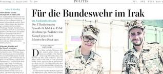Für die Bundeswehr im Irak