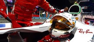 """Wenn Vettel im Formel-1-Cockpit """"abkocht"""""""