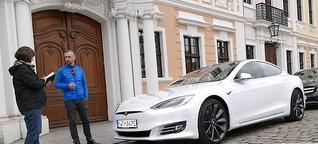 Tesla S - Probefahrt + Vergleich Tesla 3