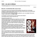1989 - Ein Jahr in Bildern