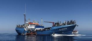 Bootsflüchtlinge im Mittelmeer retten
