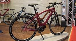 Galex Purple Art: E-Bike mit Holzrahmen auf der Eurobike 2016