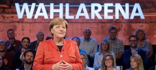 """""""Wahlarena"""" in der ARD: Merkeln mit Merkel"""