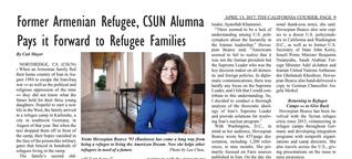Former Armenian Refugee, CSUN Alumna Pays it Forward to Refugee Families