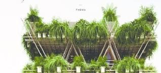 Bambus und Holz für die Megacity