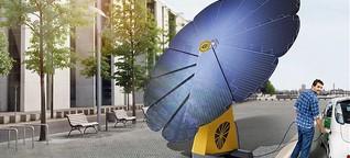 Fächer-Modul: Mobile Solarblume ersetzt den Stromanschluss