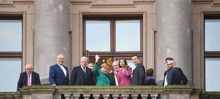 Sondierungen in Berlin: Wie ein Balkon das Bild von der Politik prägt