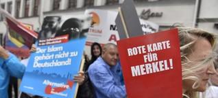 Ruppige Proteste im Wahlkampf: Merkel und der Hass der Marktplätze