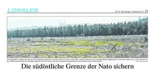 Die südöstliche Grenze der Nato sichern