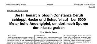 2007 - Medizinische Archäologie auf Andengipfeln