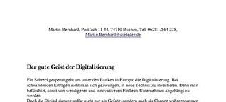 Der gute Geist der Digitalisierung