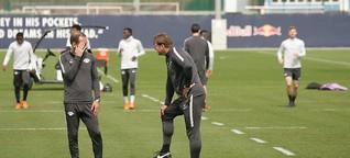 Abschlusstraining von RB Leipzig vor dem Rückspiel in Marseille