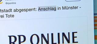 """Münster - mediale Gewichtung einer """"Todesfahrt"""""""