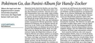 Leitartikel: Pokémon Go, das Panini-Album für Handy-Zocker