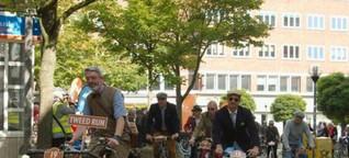 Radfahren im Stil britischer Lebensart