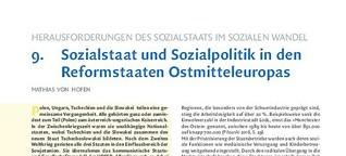 Sozialstaat und Sozialpolitik in Osteuropa