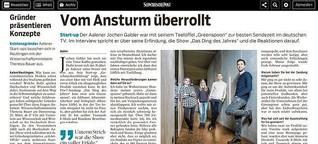"""Interview mit Startup """"Geschmacksentfaltung"""" für Schwäbische Post"""
