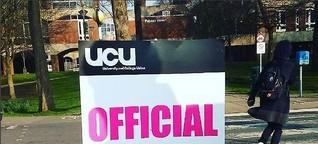 Sorgen um die Renten: Britische Hochschullehrer im Streik