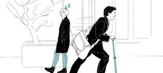 Kolumne Herzensbrecher: Anzugträger auf Cityrollern