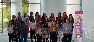 Auftakt zum Girl's Day in Berlin: Frau Merkel hat geladen