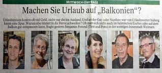 """Machen Sie Urlaub auf """"Balkonien""""?"""