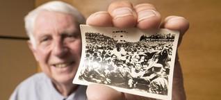 Fußballfans im Jahr 1954: Tabakbilder statt Public Viewing