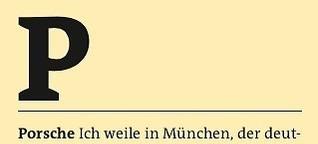Freitag A-Z: Porsche