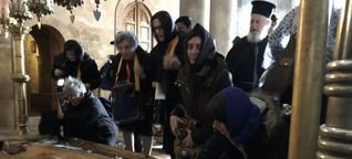 Christliche Pilger in Jerusalem - Wem gehört Jerusalem?
