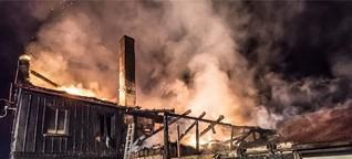 Umgebindehaus brennt in Varnsdorf