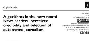 Wissenschaftliche Studie: Algorithms in the newsroom?