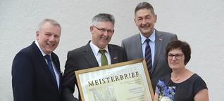 Goldener Meisterbrief für Siegfried Piske