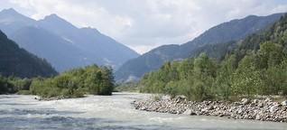 Zum Thema Flüsse. Diagonal am Strom