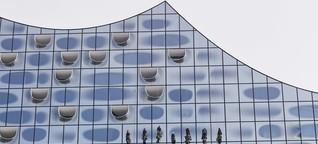 Elbphilharmonie - einmal Fensterputzen kostet 52.000 Euro
