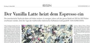 NZZ: Der Vanilla Latte heizt dem Espresso ein